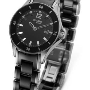 Reloj de Señora de Acer Negro Con Esfera Negra