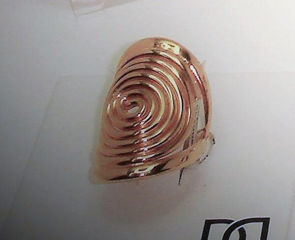 Sortija Chapada en oro